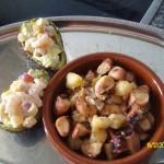 Tintenfisch mit Kartoffelstückchen