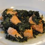 glutenfreier Lachs mit Blattspinat